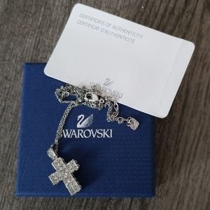 New Swarovski  Crystal Pave Cross Necklace